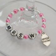 Special Teacher Personalised Wine Glass Charm - Full Bead Style